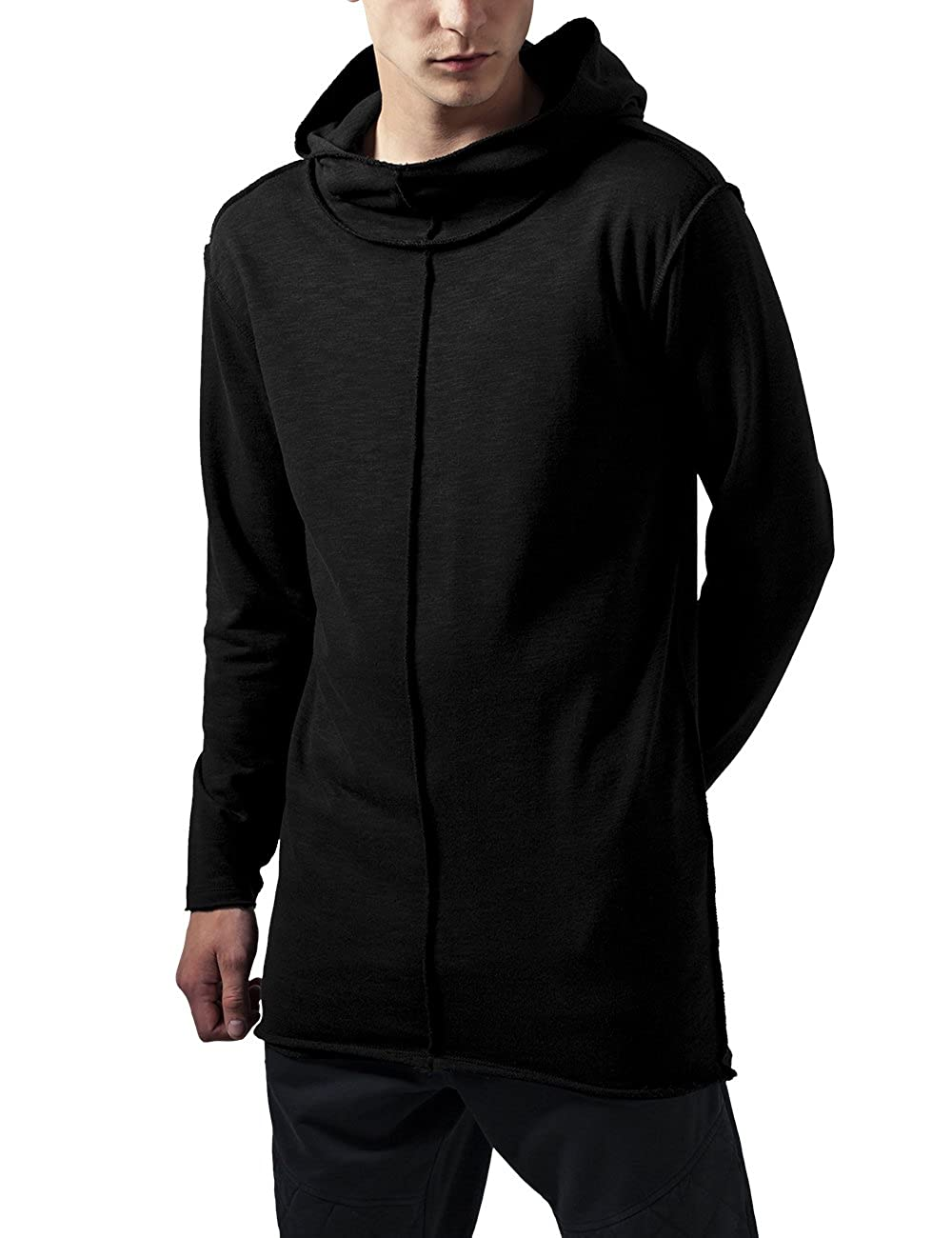 Urban Classic Men's Long Slub Terry Open Edge Hoody Sports