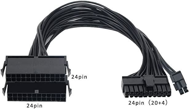 24-pin To Dual 24-pin ATX Power Supply Connector Splitter Dual-PSU ATX Adapter