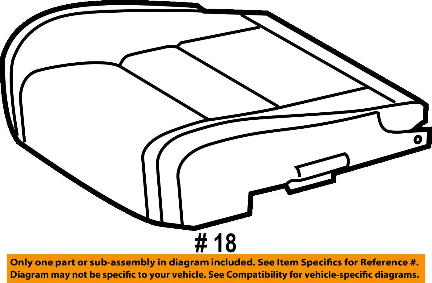 Front Left Genuine Hyundai 88150-25000 Seat Cushion Pad Assembly