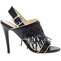 Lüks Moda | Liu Jo Kadın LIUJOS15067 Siyah Deri Sandalet | Çıkışı Sezon