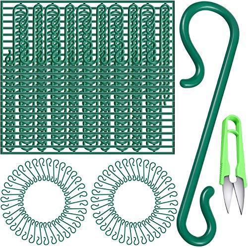 Frienda Reusable Plastic Christmas Ornament Hooks Mini Hooks S-Shaped Hangers with Scissors for Xmas Home Decoration (300 Pieces)