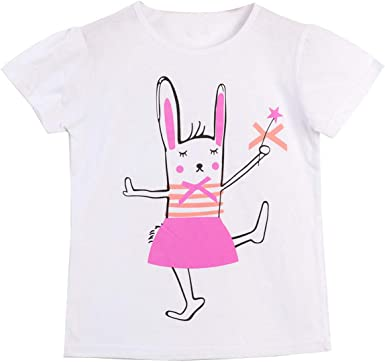 Baby Girls T shirts Animal Pattern Cotton Short Sleeve Summer Tops Kids Clothing