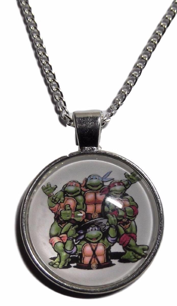 New Horizons Production Teenage Mutant Ninja Turtles Logo Glass Domed Pendant Necklace