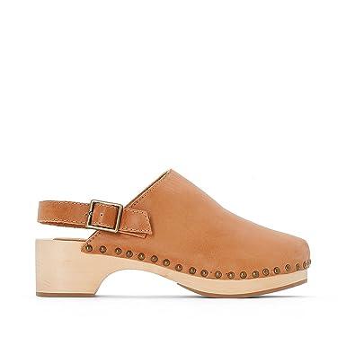 c5fb5da43f571 Amazon.com: La Redoute Collections Big Girls Leather Clogs: Clothing