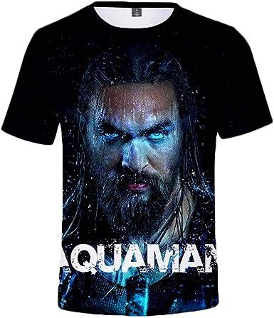 Camiseta Hombre/DC Movie Aquaman/Camisa Negra Manga Corta: Amazon.es: Ropa y accesorios