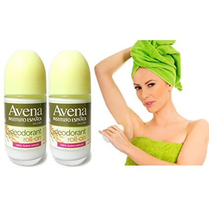 Amazon.com: 2 AVENA Roll On Deodorant Insttituto Desodorante All Natural Oat Oatmeal Extract: Health & Personal Care