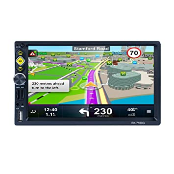 "7"" doble estéreo de 2 DIN 1080P HD de coches Vídeo Radio GPS Espejo Enlace"