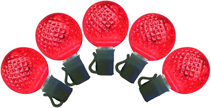 EZLS Red G25 LED Christmas Lights 25ft. - G25 Red Globe Light Strings