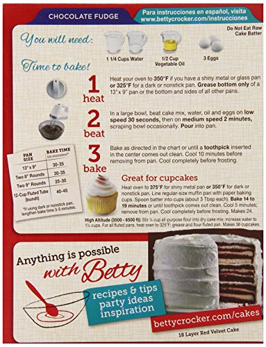 Spice Cake Mix Nutrition