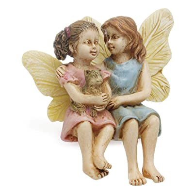 Marshall Home and Garden Sitting Fairy Sisters Multicolored 3 x 3 Resin Stone Collectible Figurine: Industrial & Scientific