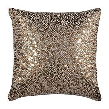 Amazon.com: Hecho a mano oro Accent Pillows, Sparkly ...