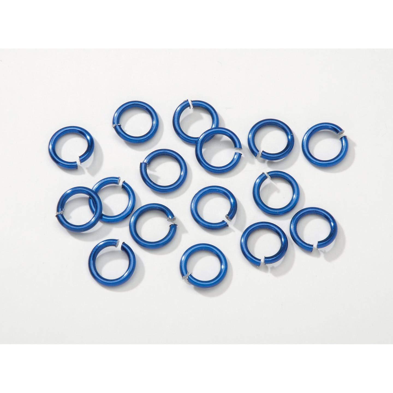 Darice Bulk Buy DIY Chain Maille Aluminum Jump Rings Majestic Blue 10mm (4-Pack) BG1019 by Darice