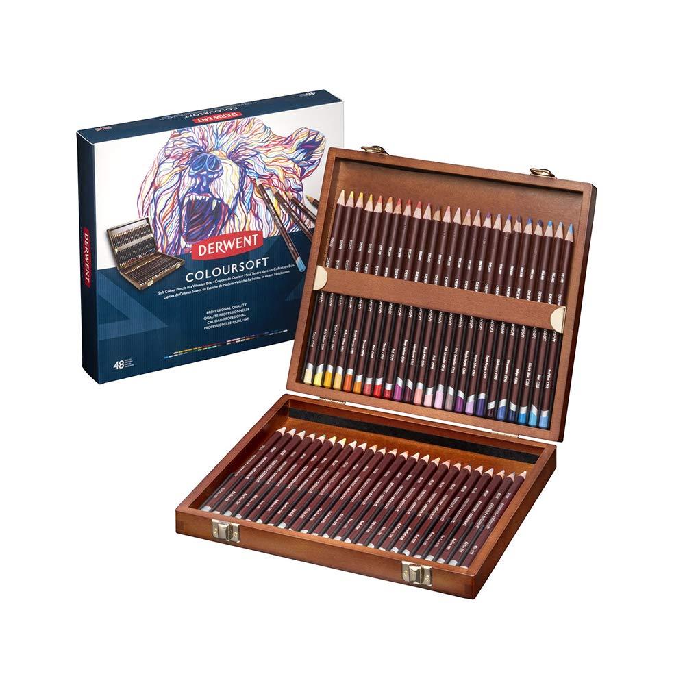 ダーウェント 色鉛筆 カラーソフト 48色セット ウッドボックスセット 2301660  48色セット B000TMB9S6