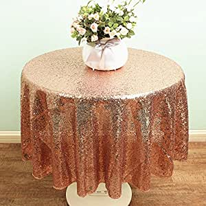 Amazon.com: SoarDream 50 Inch Round Rose Gold Sequin ...