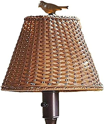 Plow Hearth 39801-TN Waterproof Outdoor Wicker Floor Lamp