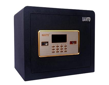Navito Orion 300A Alarm & Memory Series Safe Steel Locker (Black)