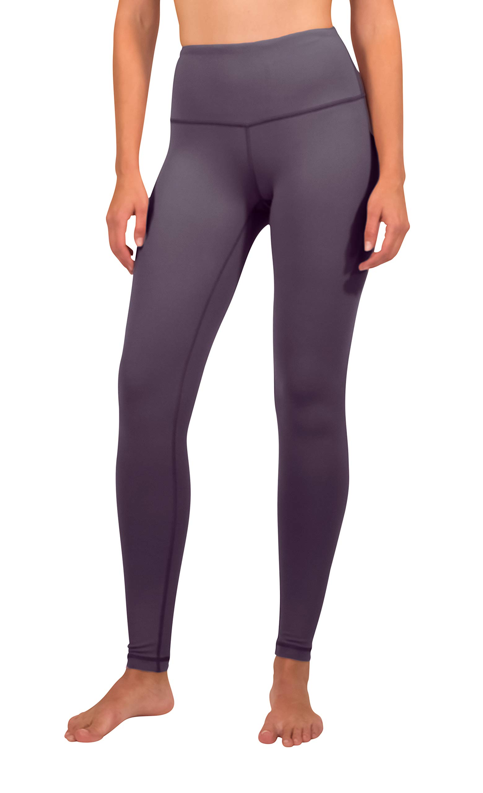 90 Degree By Reflex - High Waist Power Flex Legging - Tummy Control - Summer Fig - XL by 90 Degree By Reflex