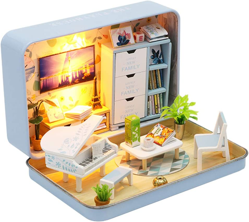 Chinese Palace SM SunniMix DIY Wooden Dolls House Handcraft Dollhouse Miniature Kit Handmade Construction Playset Christmas Birthday Gift