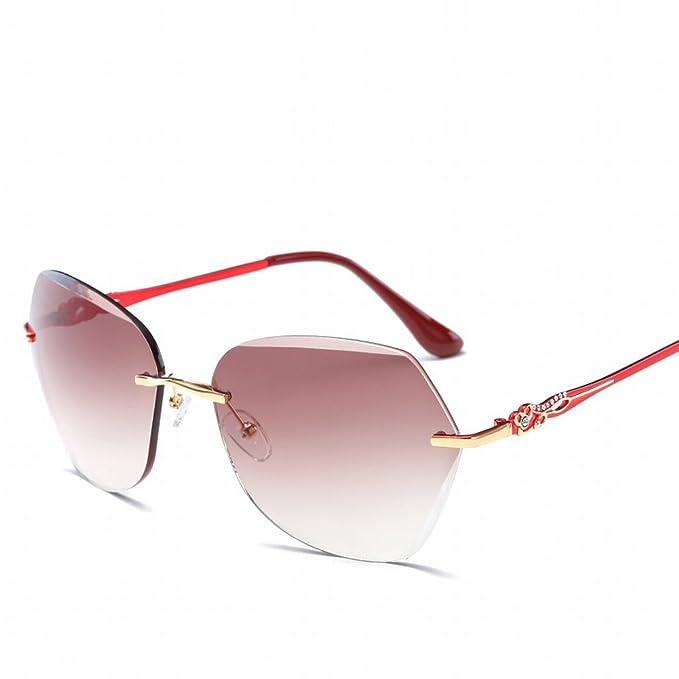 Art und Weise Kein Rahmen Ozeanobjektiv Sonnenbrille Hd Dame Sonnenbrille , Bohnenfüße in Den Tee C19