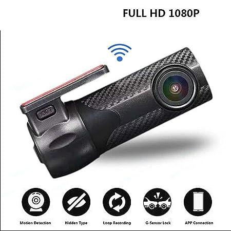 Blueskysea B1W WiFi Mini C/ámara del coche Dash cam Grabador de video del veh/ículo 360 grados Lente giratoria 1080p 30fps G-Sensor Grabaci/ón en bucle