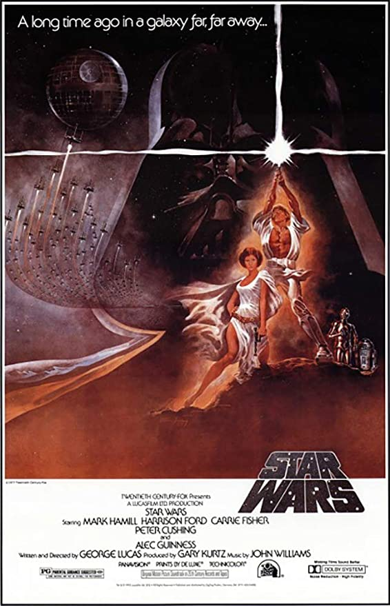 Amazon Com Star Wars Episode Iv A New Hope Movie Poster Regular Style A Size 27 Inches X 40 Prints Posters Prints