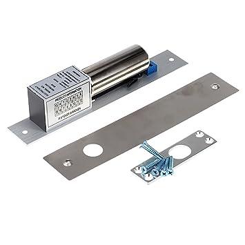 KKmoon T/ürschloss Elektrische Tropfen Bolzen T/ürschloss DC 12V Magnetische Induktion Automatische T/ürriegel f/ür Sicherheit Zutrittskontrollsystem