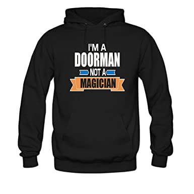SYBING Women s I m a Doorman Not a magician Long Sleeve Hoodie at ... 3143f84b8a