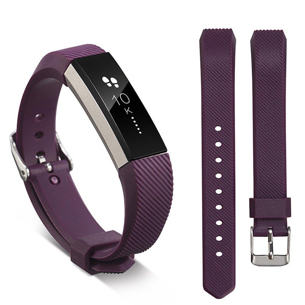 Ugood_ 2019 Replacement Wrist Band Silicon Strap for Fitbit Alta/Alta HR Smart Watch Bracelet (Darkpurple,)