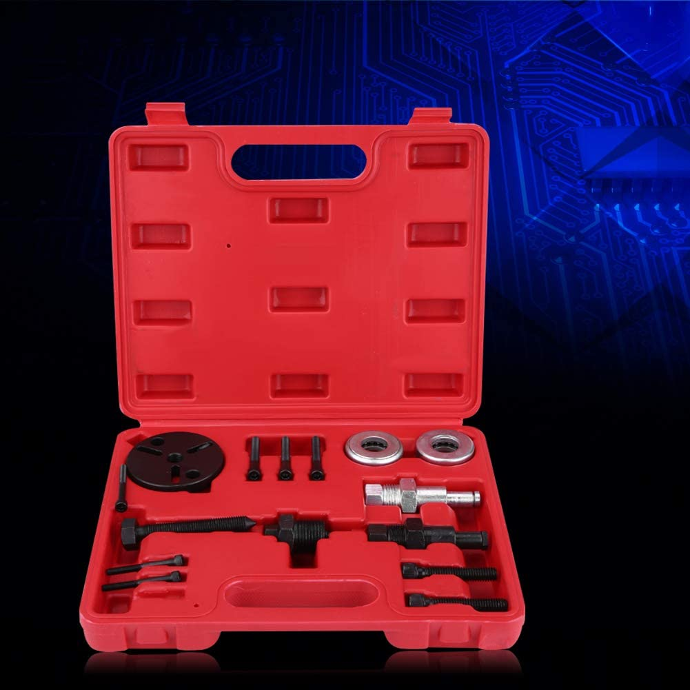 Klimakompressor Werkzeuge 15 tlg Qiilu A//C-Kupplungs-Entferner mit Aufbewahrungsbox