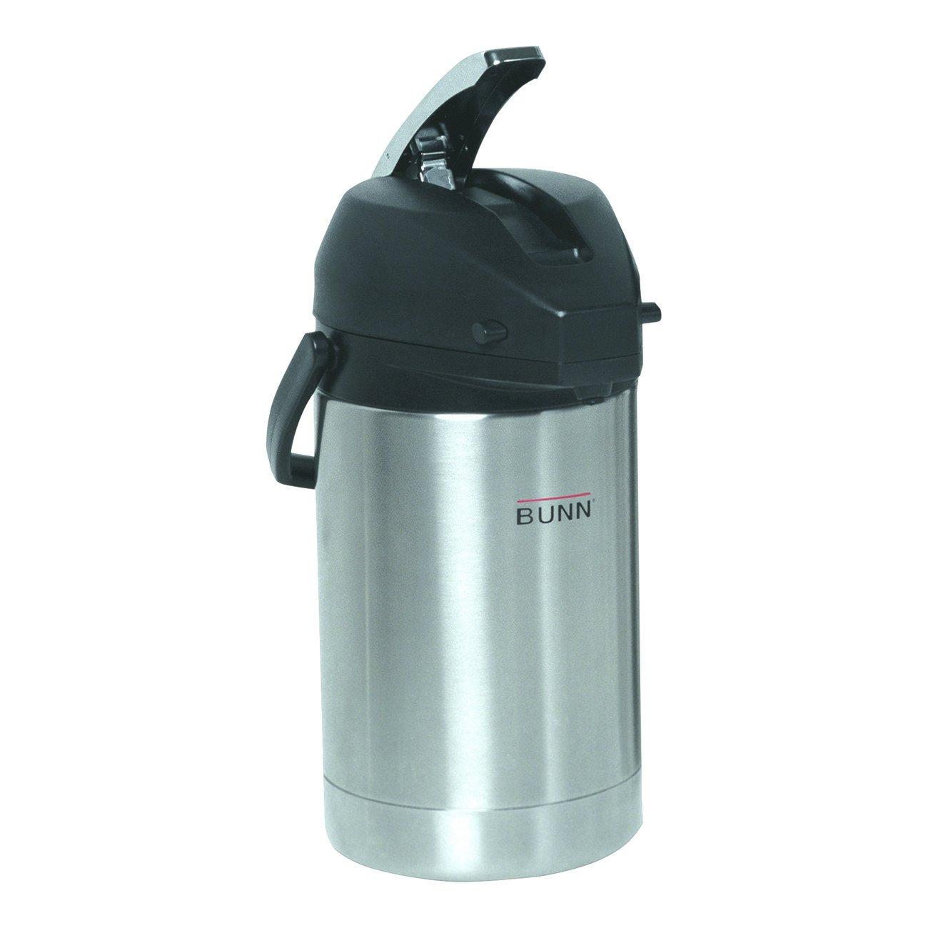 BUNN 32125.0000 2.5 Liter Lever-Action Airpot, Stainless Steel