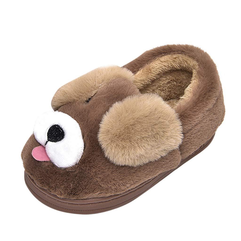 Zapatos de bebé, Niño pequeño bebé niños niñas niños Dibujos Animados Perro Zapatillas Dibujos Animados cálido Interior Zapatos