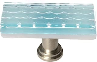 product image for Sietto LK-901-SN Texture 2 Inch Long Rectangular Cabinet Knob