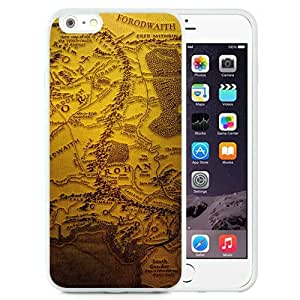NEW Unique Custom Designed iPhone 6 Plus 5.5 Inch Phone Case With The Realm Of Middle Earth Map_White Phone Case