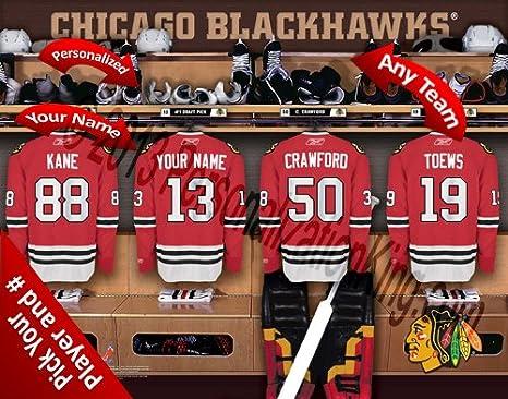 Amazon.com   Chicago Blackhawks Team Locker Room Clubhouse ... fd50eddfe