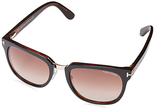 649e750cbb2 Image Unavailable. Image not available for. Color  Tom Ford 01F Black 01F  Rock Wayfarer Sunglasses ...