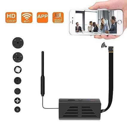 Cámara Oculta espía WiFi, cámara inalámbrica de Seguridad 1080P Video con detección de Movimiento,
