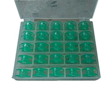chengyida 25 en caja transparente verde bobinas Viking Husqvarna blanco casa máquinas de coser # 4125615 - 45 # 4123078-g: Amazon.es: Hogar