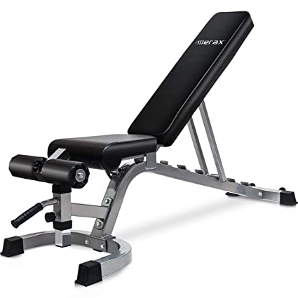Amazon merax deluxe utility weight bench adjutable sit up ab