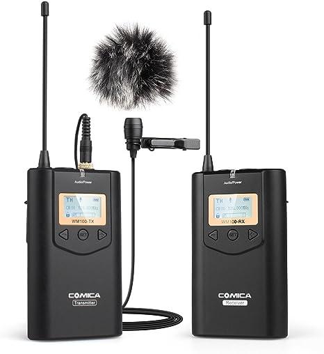 Comica CVM-WM100 - Micrófono inalámbrico de lavalier UHF 48 ...
