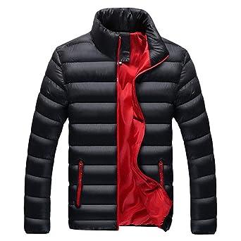 Amazon.com: Jacket Men Warm Coat Black Outwear Chaquetas ...