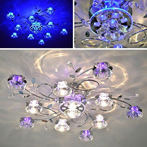 Deckenlampe LED Lotus 5 6 11FL Deckenleuchte Fernbedienung Lampe Leuchte V1 Amazonde Beleuchtung
