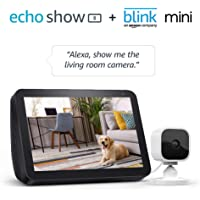 Echo Show 8 w/Blink Mini Indoor Smart Security Camera 1080p