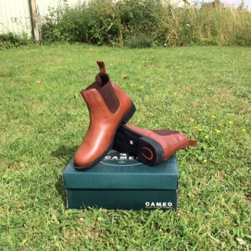 BROWN ADULTS 4CAMEO DONARD LEATHER JODHPUR BOOT IN BLACK OR BROWN  HORSE RIDING YARD BOOTS (ADULTS 8, BROWN)