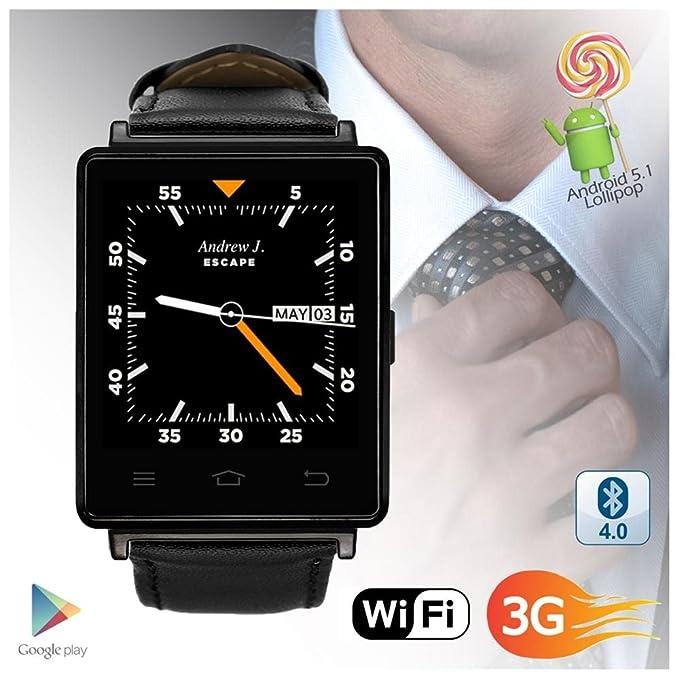 Indigi® Trendy 3 G Desbloqueado Android 5.1 Smartwatch + ...
