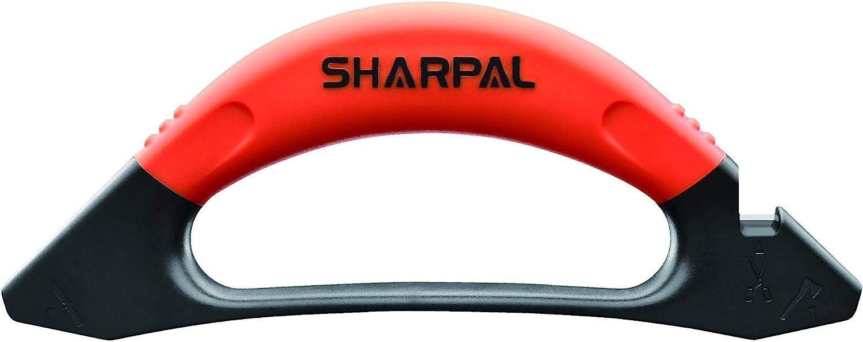 SHARPAL 112N Afilador 3 en 1 de cuchillos, hachas, destrales, machetes, tijeras y herramientas de jardín