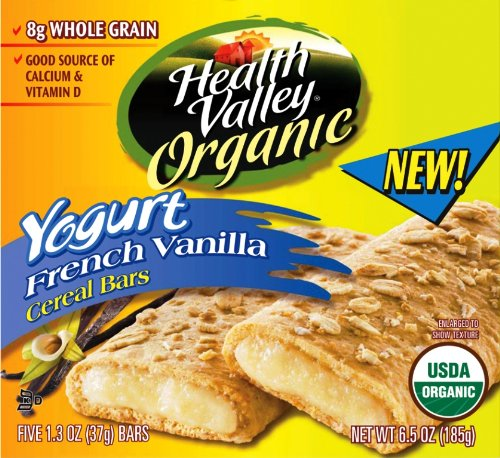 UPC 035742155718, Health Valley Organic Yogurt French Vanilla Cereal Bars, 6.5-Ounce Boxes (Pack of 6)