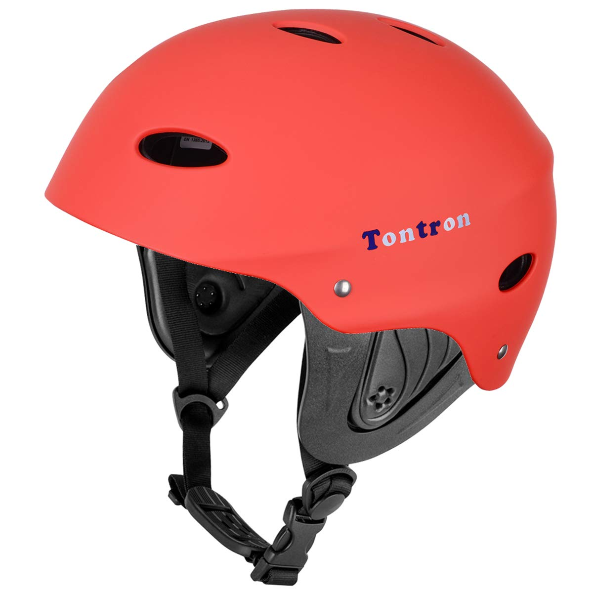Tontron Adult Whitewater Kayaking Canoeing Bike Skate Multi-Sports Helmet (Matte Summer Red, Large) by Tontron