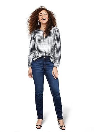 29938af04f54 VIOLETA (Plus Size) - Slim-fit susan Slim jeans - Size 26 - Color Dark Blue   Amazon.co.uk  Clothing