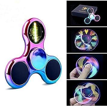 Fidget Spinner Spinner de Mano Quimat con LED Se encienden Juguetes para Dedos EDC 18 modalidades de Parpadeo niños y Adultos (Colorido): Amazon.es: Juguetes y juegos