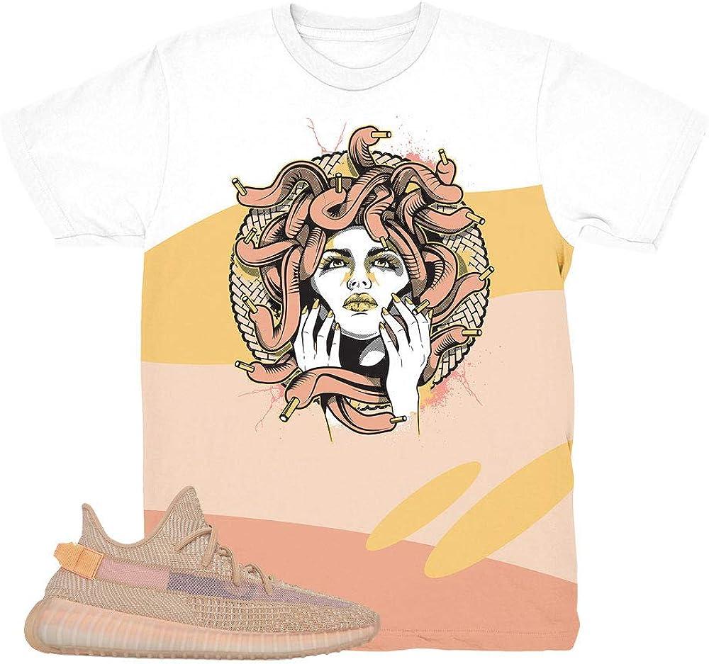 Yeezy 350 Clay Medusa Big Wave Shirt to
